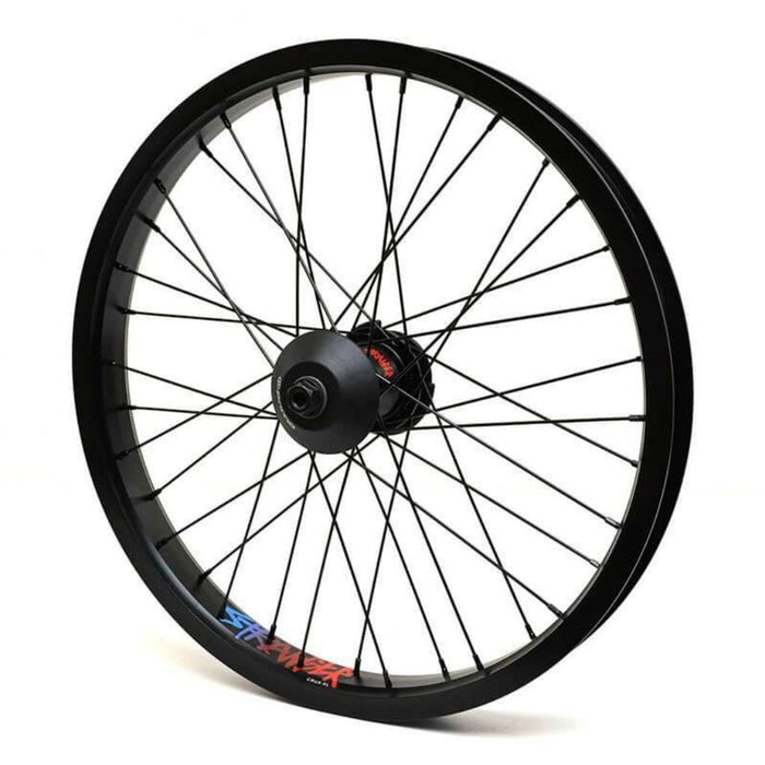 Stranger BMX Parts Stranger LHD Crux V2 Freecoaster Wheel - Black Hub With Black XL Rim 9 Tooth