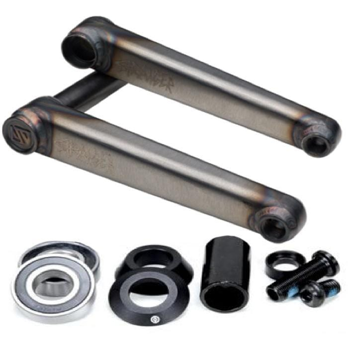 Stranger BMX Parts Stranger Mass V2 24mm Cranks 175mm Raw with Primo Mid BB