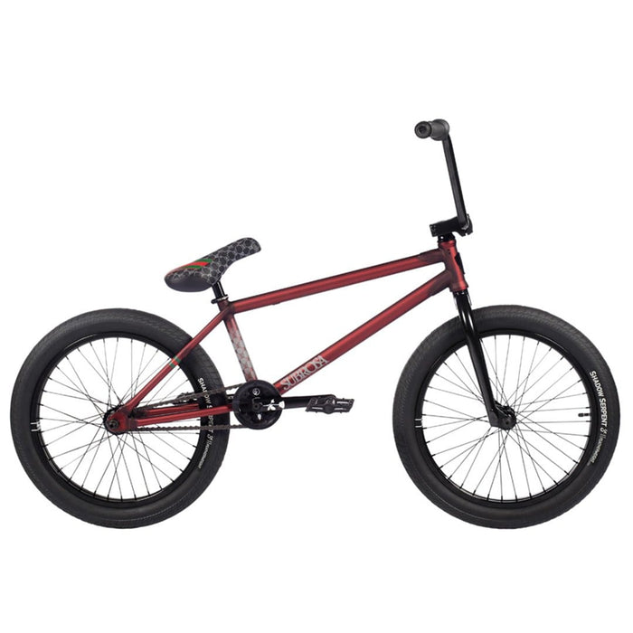 Subrosa BMX Bike Subrosa 2021 Novus Ray 21TT BMX Bike Matt Translucent Red