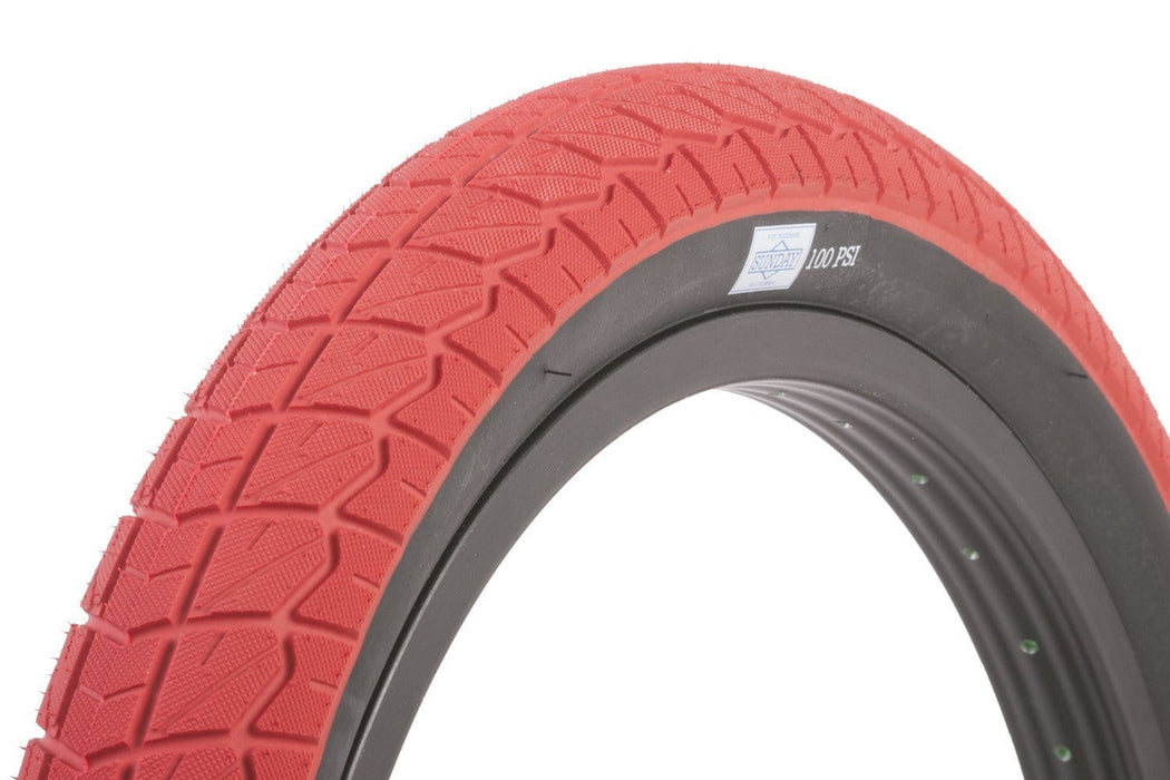 Sunday BMX Parts 2.4 Sunday Current Tyre Red