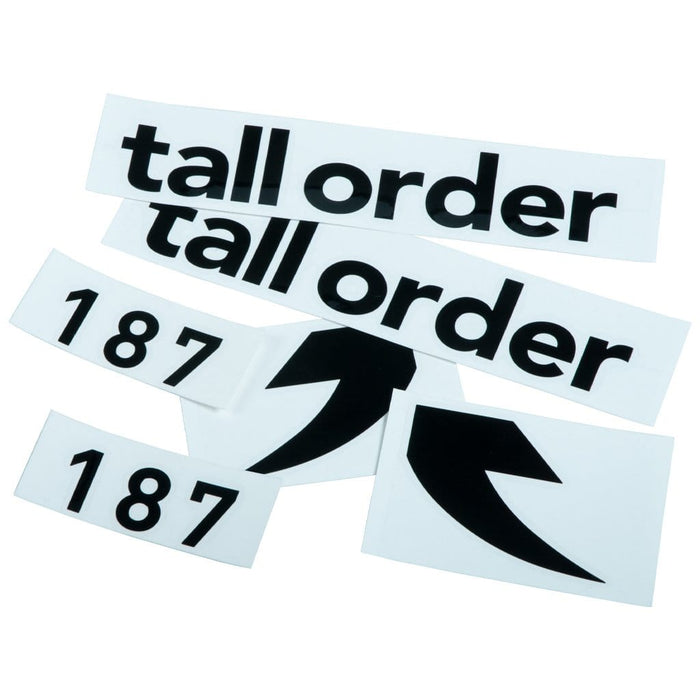 Tall Order BMX Parts Tall Order 187 Frame Stickers