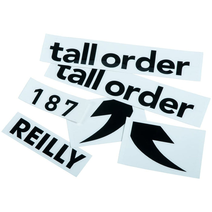 Tall Order BMX Parts Black Tall Order 187 Reilly Frame Stickers