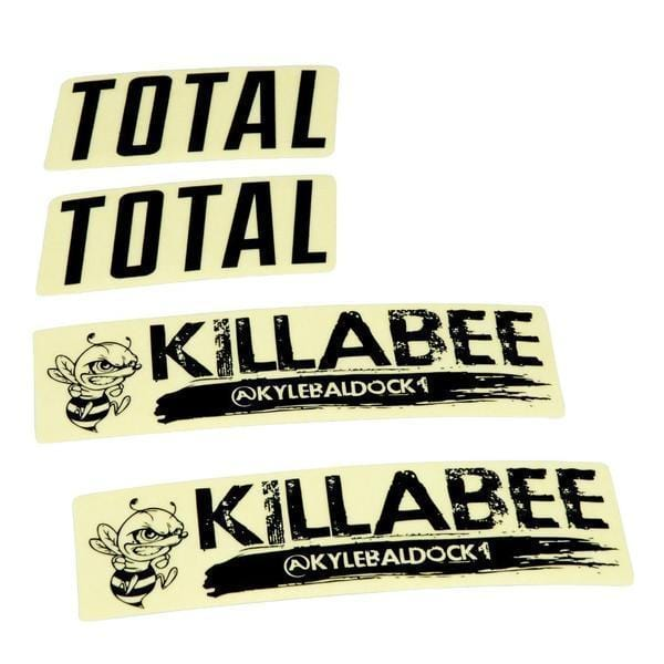 Total BMX BMX Parts Total BMX Killabee K3 Frame Stickers Black