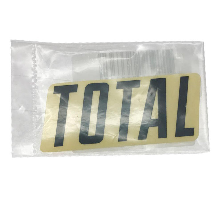 Total BMX Parts Total BMX New Style 3 Inch Sticker Black