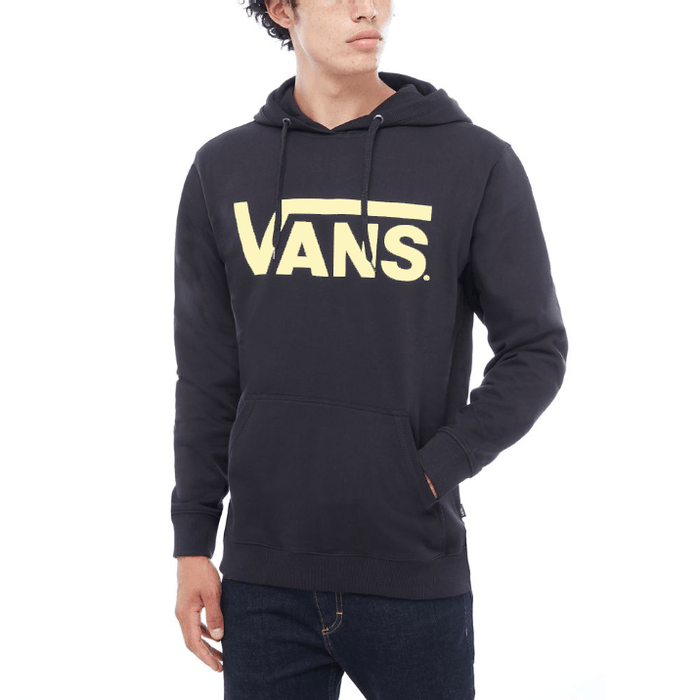 Vans Clothing & Shoes Vans Classic Pullover Hooded Sweatshirt Black/Sunny Lime