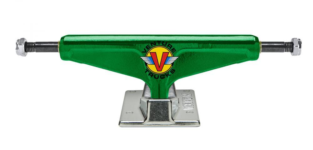 Venture Skateboards Venture V Light High Skateboard Trucks Wings Anodised Green Pair