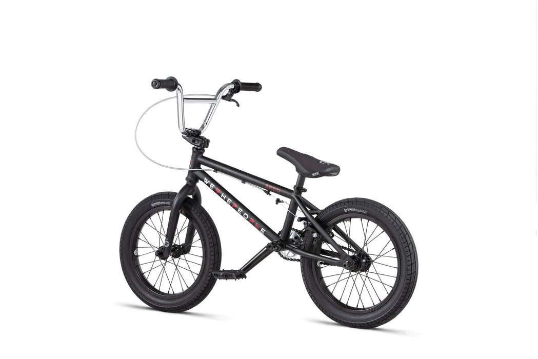 We The People BMX Bikes We The People 2020 Seed 16 Inch BMX Matt Black