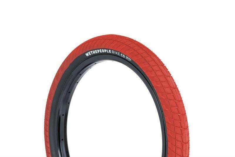 We The People BMX Parts 2.35 We The People Overbite Tyre Red/Black Sidewall
