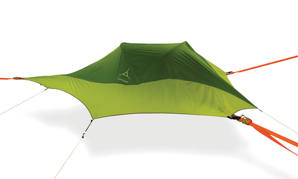 Rainforest Green Tentsile Connect 2 person camping hammock tent.