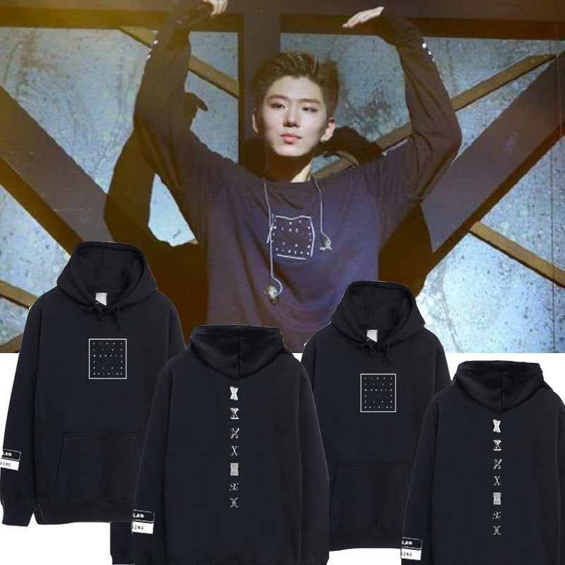 Monsta x Cap Hoodie Sweatershirt Unisex Jooheon First Live X Clan Pullover