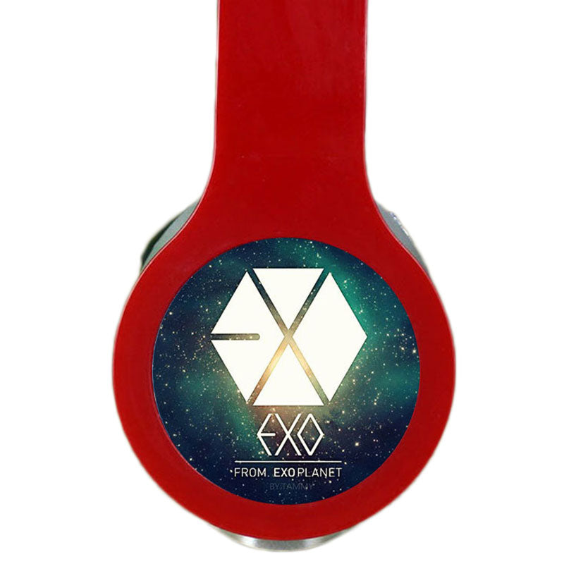 KPOP EXO Custom Logo Headphones Gaming Headset Stereo Headphones with Microphone for Iphone/Samsung