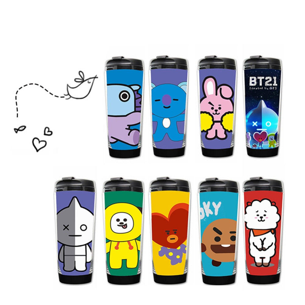 BT21 Water Cup Drinking Bottle