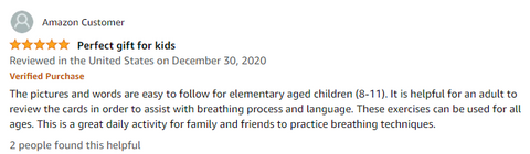 breathwork for kids, breathing exercises for kids, exercises for kids, amazon review