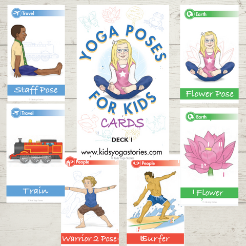 yoga poses, yoga cards for kids