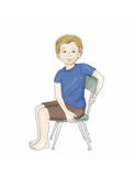 Sample pages or images for 40 chair yoga poses for kids