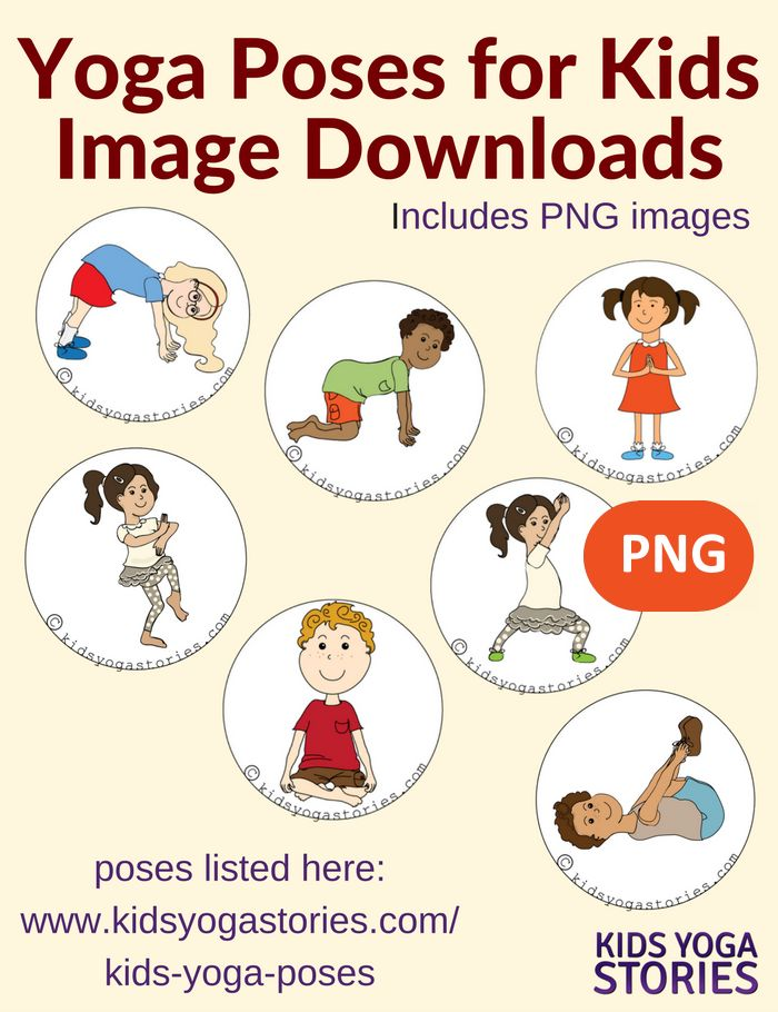 Front Cover Page Or Image For 58 Yoga Poses Kids Images