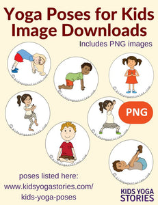Front cover page or cover image for 58 yoga poses for kids Images