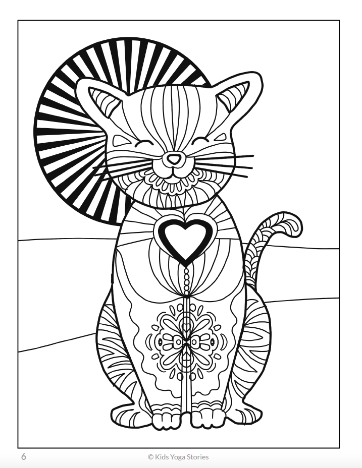 Calming Coloring Pages for Kids - Animals – Kids Yoga Stories