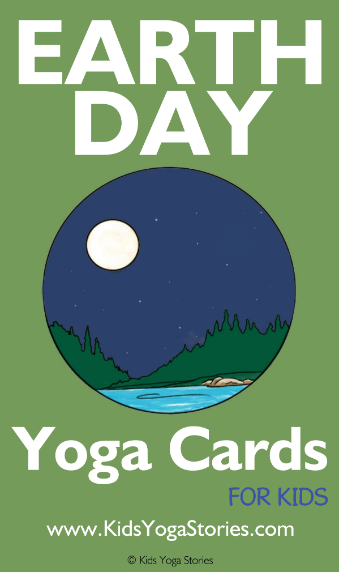 Earth Day Yoga Cards for Kids