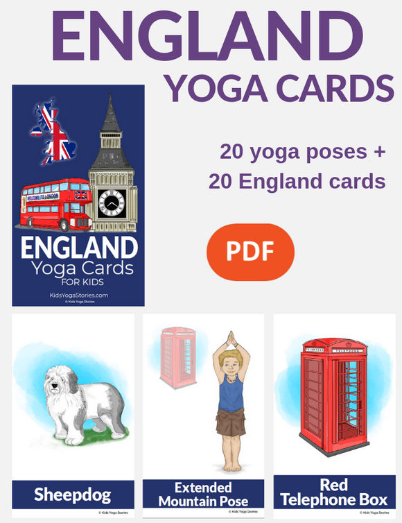 England Yoga Cards for Kids