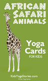 African Safari Animals Yoga Cards for Kids