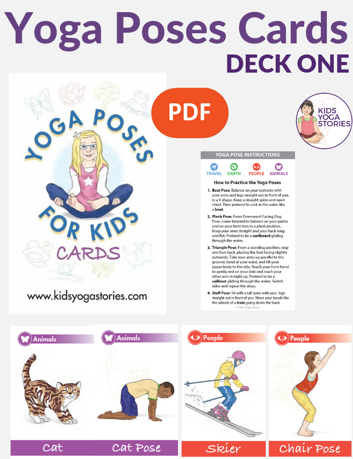 Yoga Poses for Kids Cards (Deck One) – Kids Yoga Stories