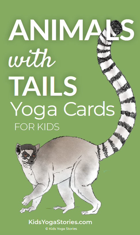 Animals with Tails Yoga Cards for Kids