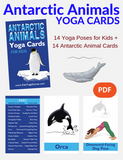 Antarctic Animals Yoga Cards for Kids