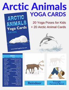 Arctic Animals Yoga Cards for Kids