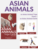 Asian Animals Yoga Cards for Kids