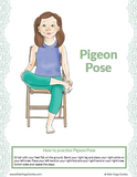 Calming Chair Yoga Poses Posters