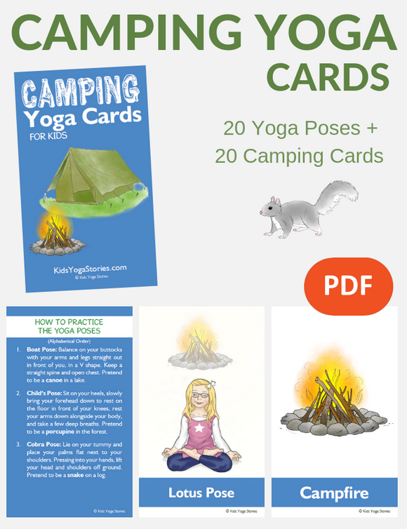 Camping Yoga Cards for Kids