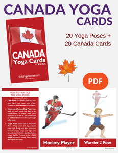 Canada Yoga Cards for Kids