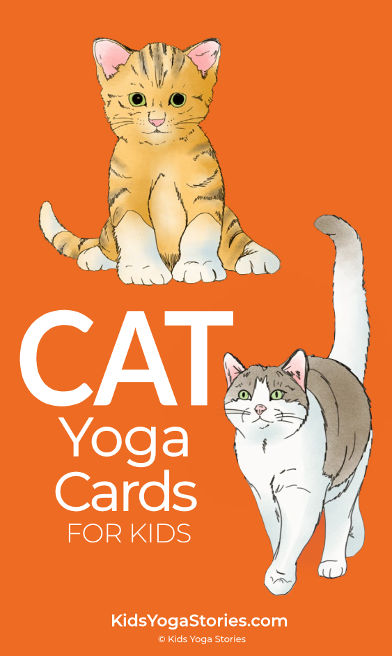 Cat Yoga Cards for Kids