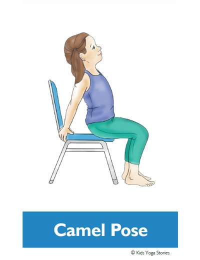 Chair Yoga Poses for Kids Cards – Kids Yoga Stories