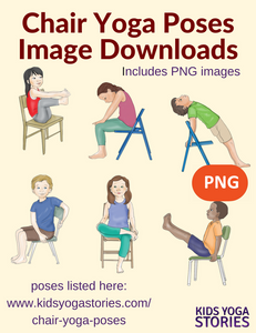 Front cover page or cover image for 40 chair yoga poses for kids Images
