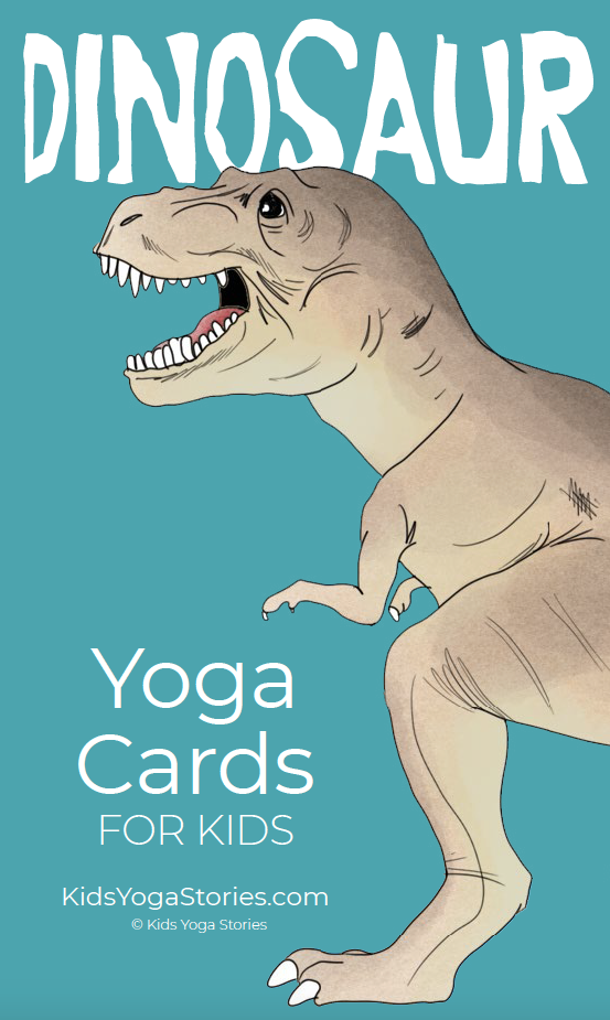 Dinosaur Yoga Cards for Kids