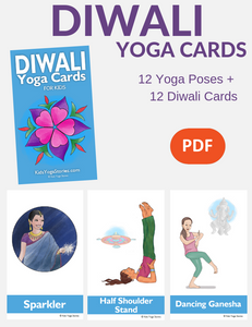 Diwali Yoga Cards for Kids