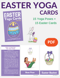 Easter Yoga Cards for Kids