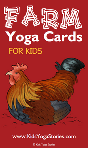 Farm Animals Yoga Cards for Kids