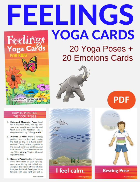 Feelings Yoga Cards for Kids