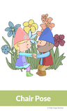 Garden Gnome Partner Yoga Cards for Kids