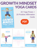 Growth Mindset Yoga Cards for Kids