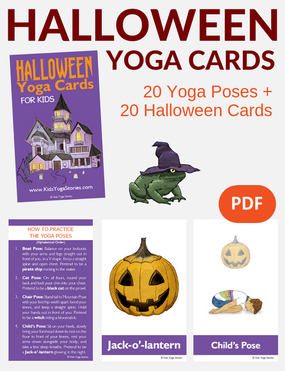 Halloween Yoga Cards for Kids