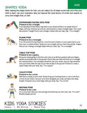 Sample pages or images for kids yoga class ideas