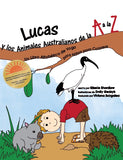 Sample pages or images for lukes a to z of australian animals coloring book