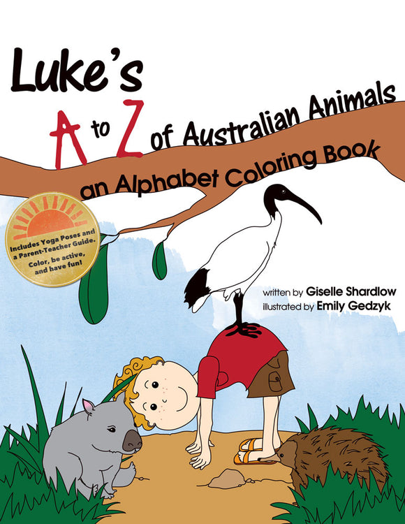 Front cover page or cover image for lukes a to z of australian animals coloring book Coloring Book