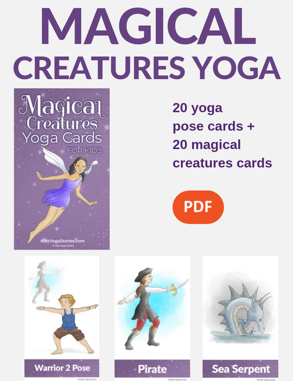 Magical Creatures Yoga Cards
