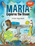 Sample pages or images for maria explores the ocean