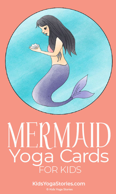 Mermaid Yoga Cards for Kids